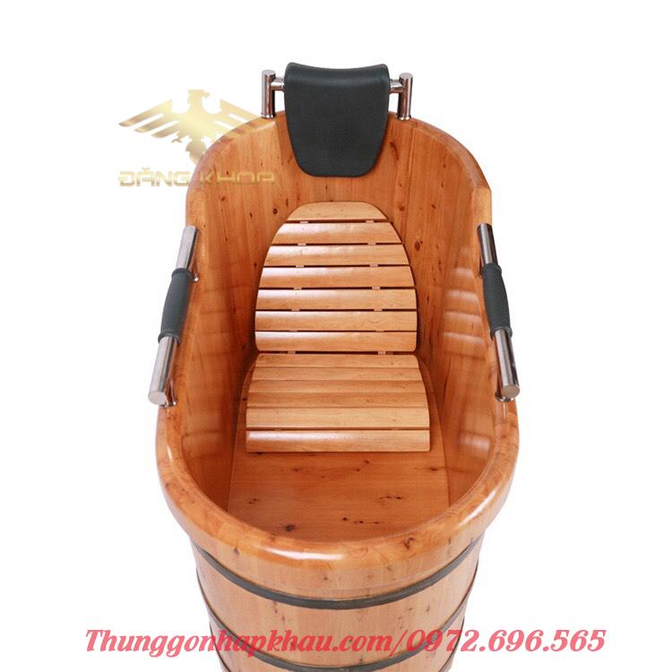 Mua bồn tắm gỗ tay vịn cao cấp