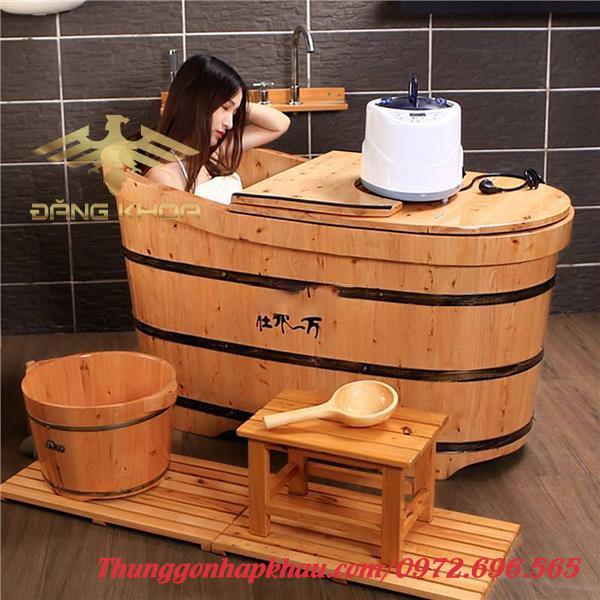 Mua bồn tắm gỗ tròn đẹp