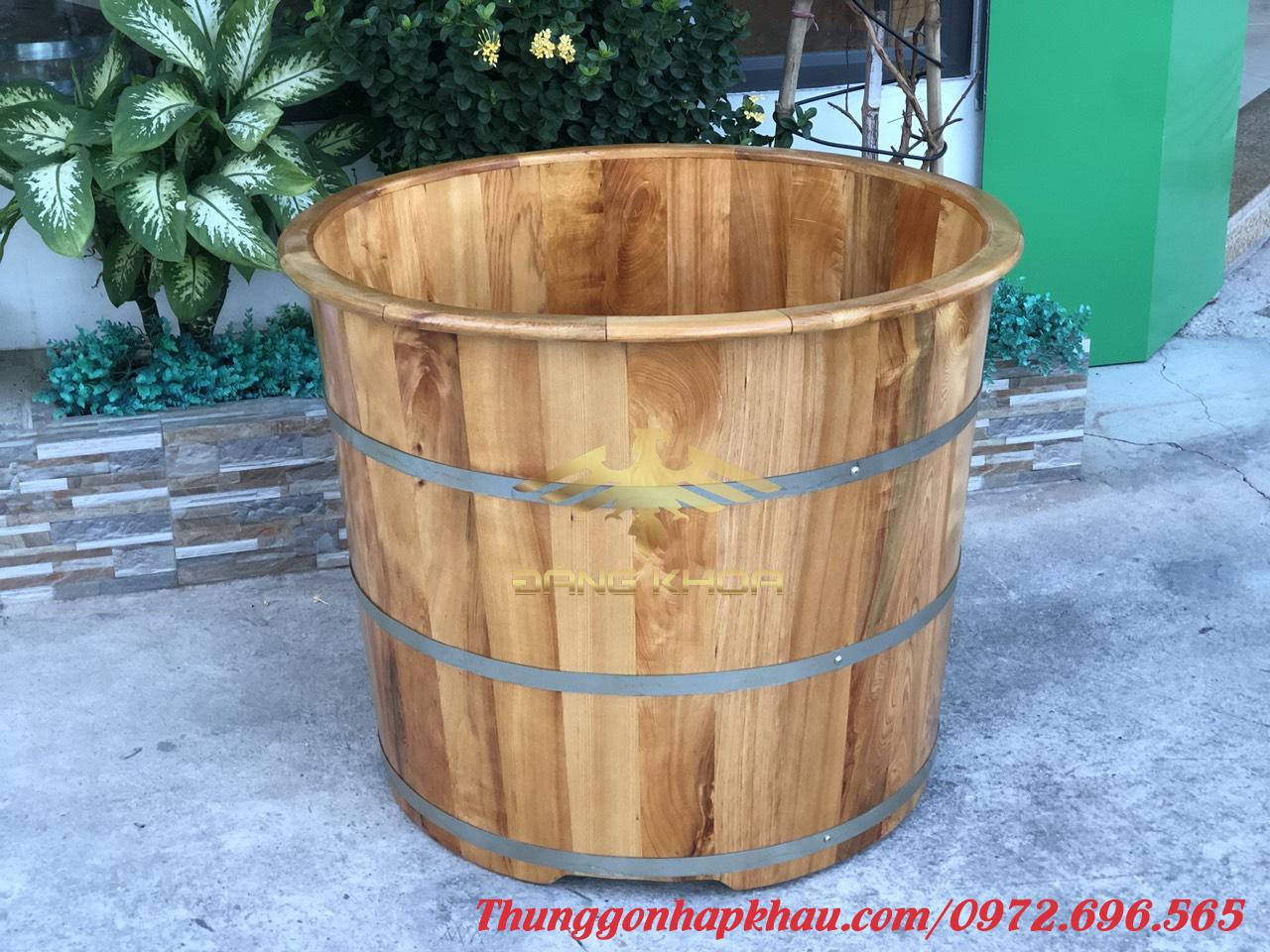 Bồn tắm gỗ tròn đẹp