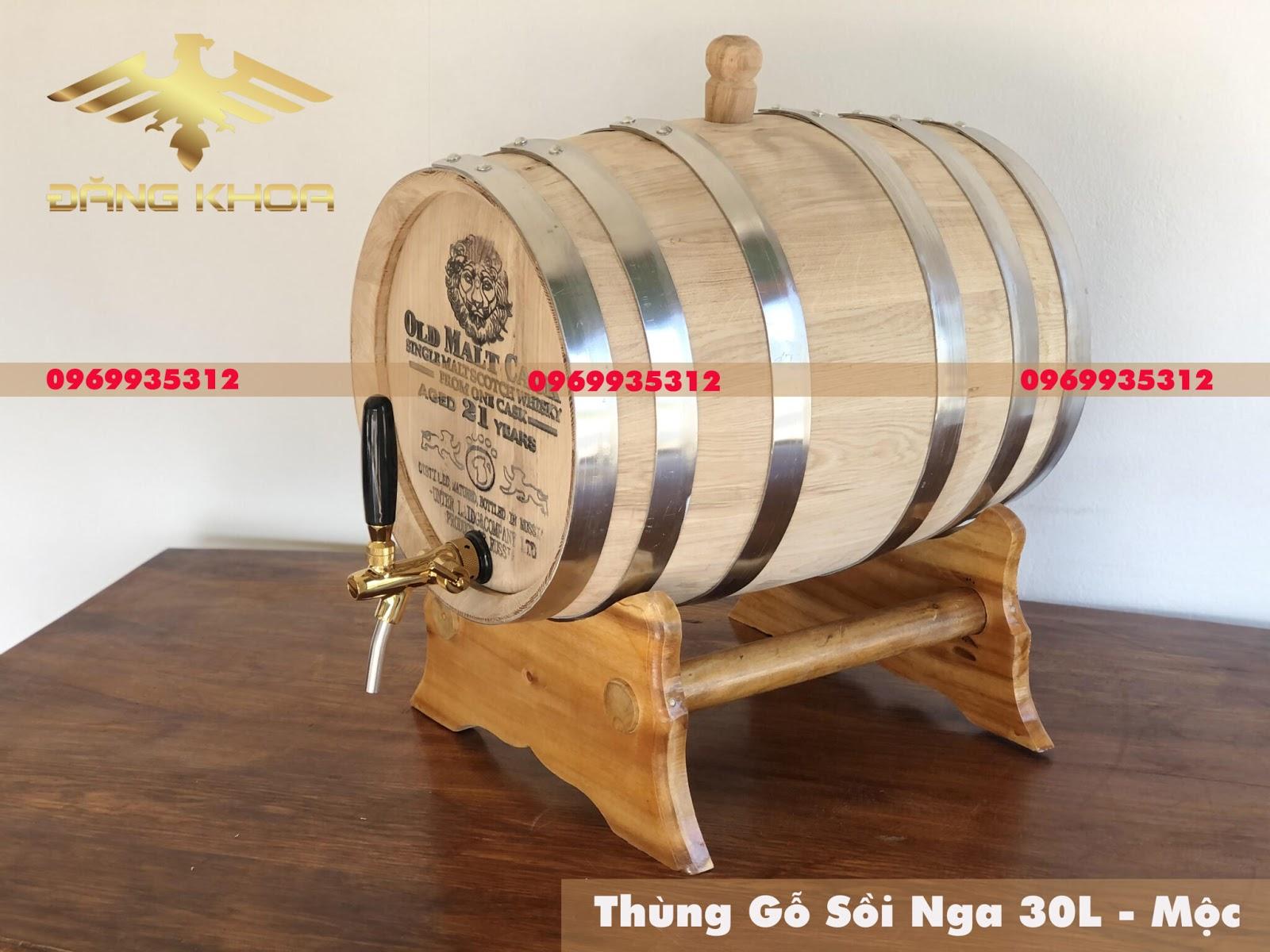 Bán thùng gỗ sồi 20l giá rẻ đẹp tại Hà Nội