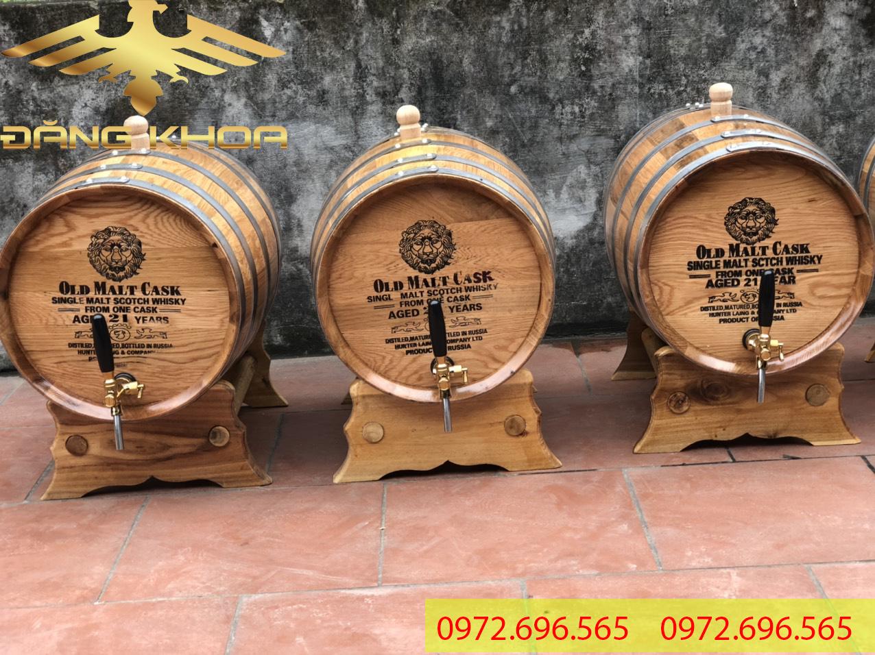 Ngâm rượu bằng thùng gỗ sồi tốt cho sức khỏe