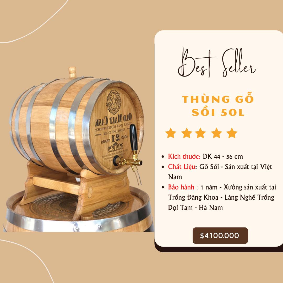 Thung go soi 50L