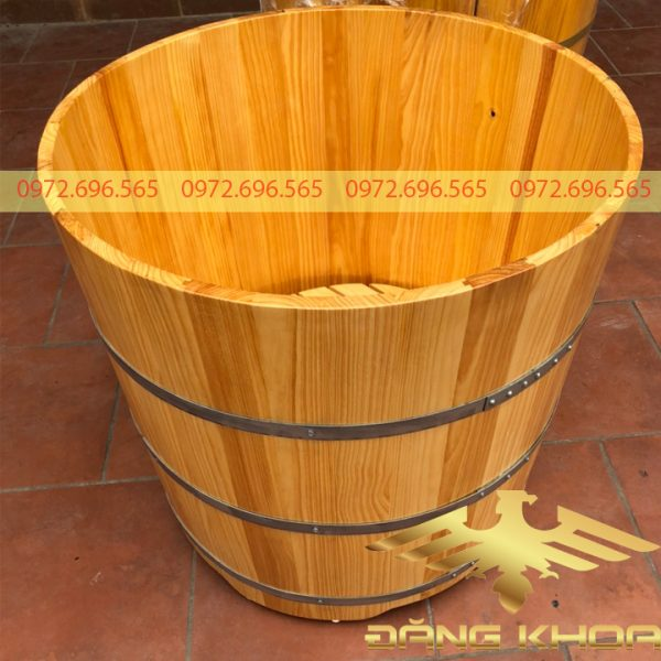Thùng tắm gỗ thông tròn đẹp mới nhất 2021