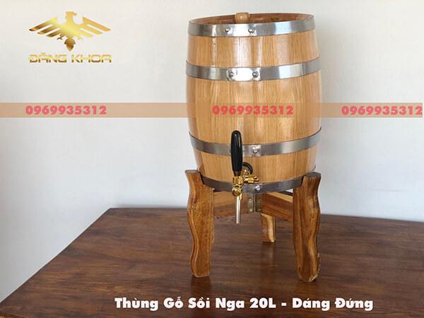 Kiểu dáng sang trọng của thùng gỗ sồi