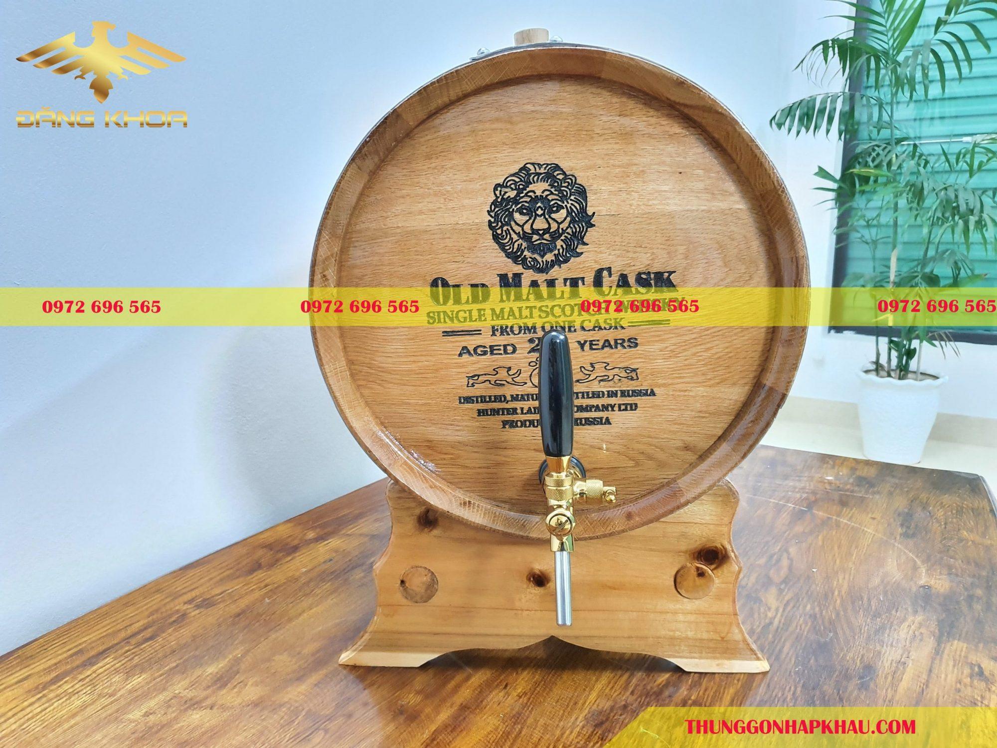 Mua thùng gỗ sồi đựng rượu