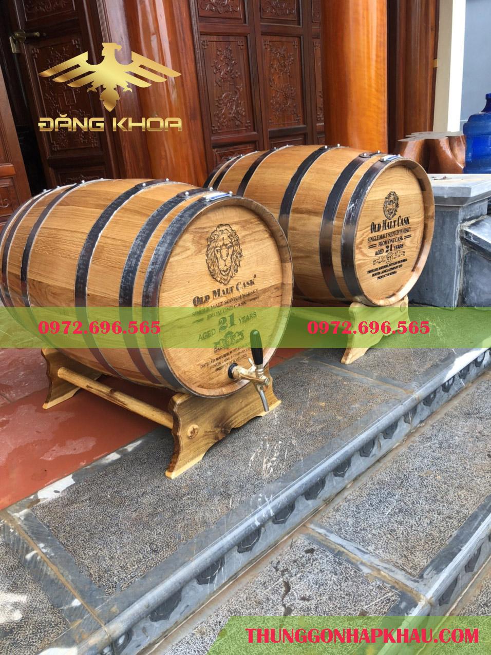 Ngâm ủ rượu vang ngon với thùng gỗ sồi cao cấp