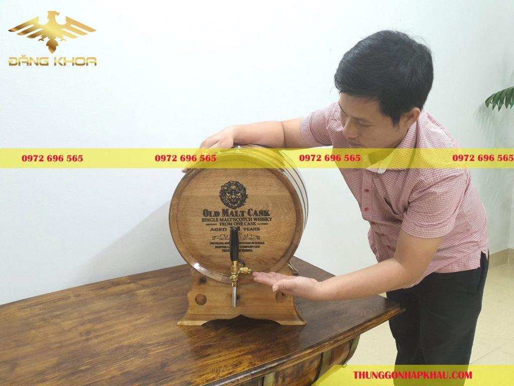 Đặt mua thùng gỗ sồi ngâm rượu