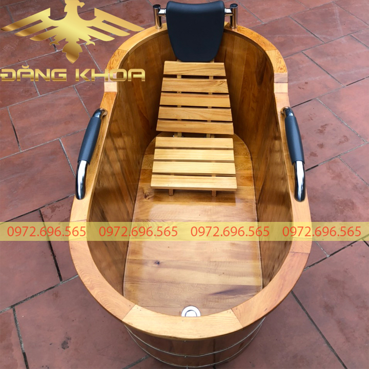 Bồn tắm gỗ sồi bọc da - Bồn tắm gỗ cao cấp cho mọi gia đình